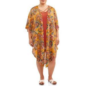 NWT WOMAN PLUS SIZE TERRA & SKY 2Pc Kimono Top Set